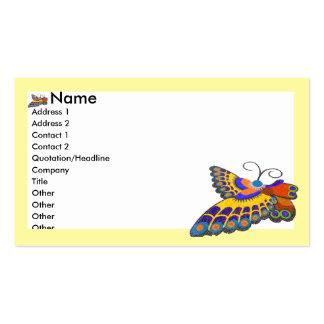 Borboleta amarela cartão de visita