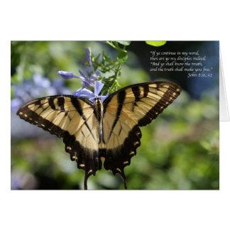 Borboleta amarela de John 8 Swallowtail Cartão Comemorativo