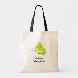 Borboleta amarela sacolas personalizadas bolsas para compras