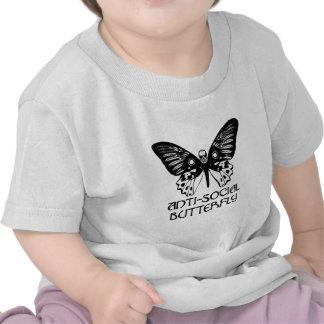 Borboleta anti-social tshirt