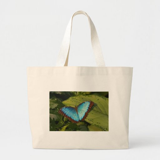 Borboleta azul bolsa para compra