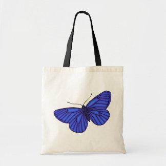 Borboleta azul sacola tote budget