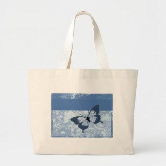 Borboleta azul bolsa para compras