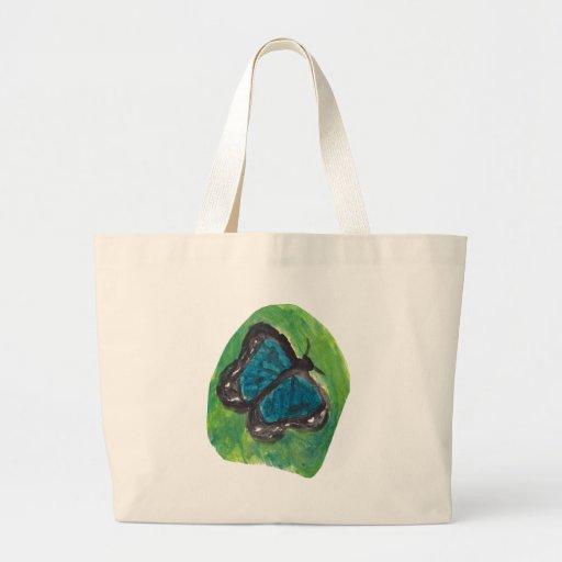 Borboleta azul bolsas de lona