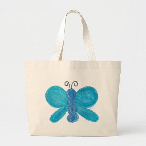 Borboleta azul bolsas para compras