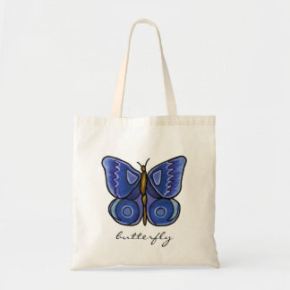 Borboleta azul bolsa tote
