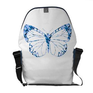Borboleta azul bolsas mensageiro