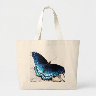Borboleta azul bonita bolsa tote grande