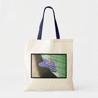 Borboleta azul bonito bolsa para compra