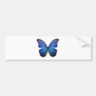 Borboleta azul brilhante adesivo para carro