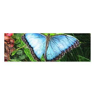 Borboleta azul cartao de visita