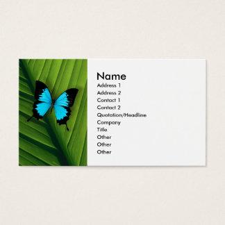 Borboleta azul cartão de visitas