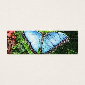 Borboleta azul cartão de visitas mini