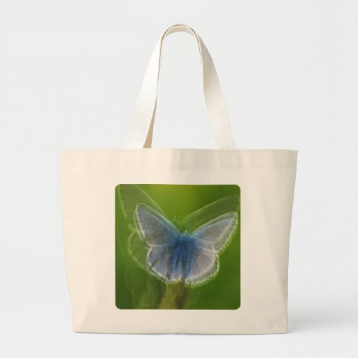 Borboleta azul de Adonis borrada Bolsa Para Compra