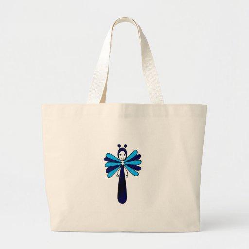 "Borboleta azul de ""Bella"" Bolsa De Lona"