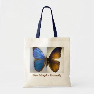 Borboleta azul de Morpho Sacola Tote Budget