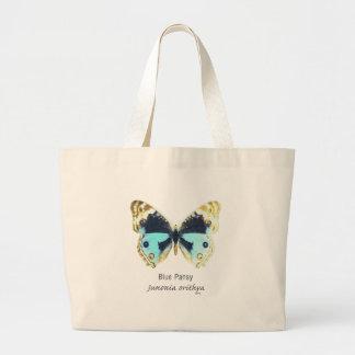 Borboleta azul do amor perfeito com nome bolsas para compras