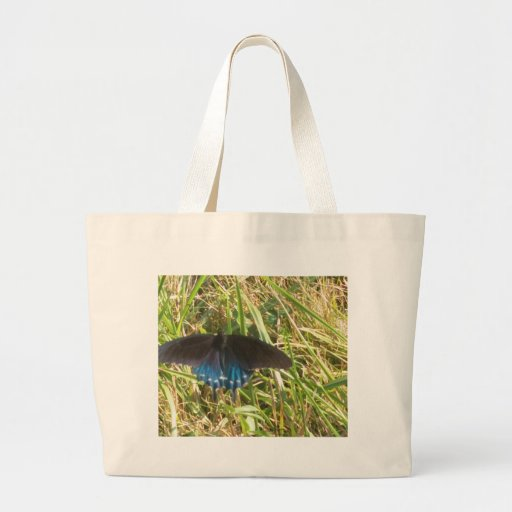 borboleta azul e preta bolsa para compras