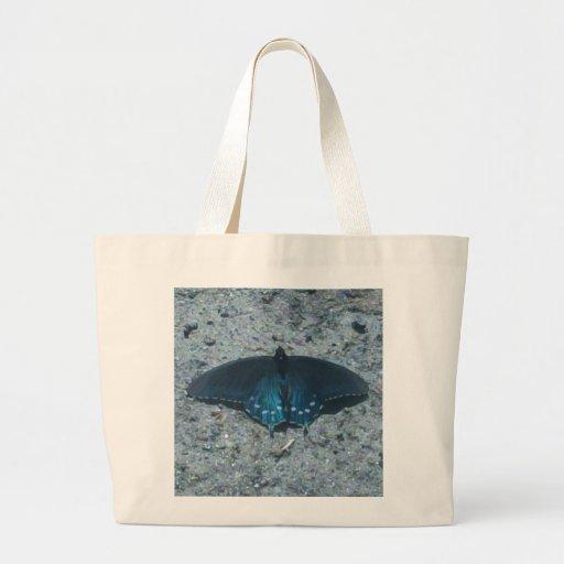 borboleta azul e preta no Sandy Beach Bolsa Para Compra