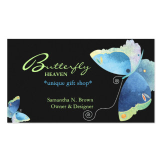 Borboleta azul elegante cartões de visitas