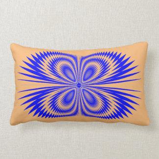 Borboleta azul no travesseiro almofada lombar