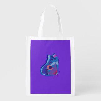 Borboleta azul sacolas ecológicas