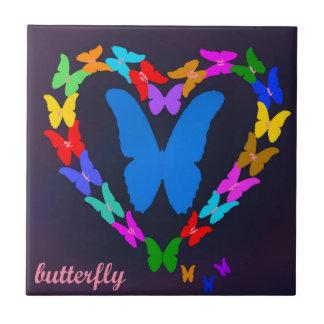 borboleta azulejo de cerâmica