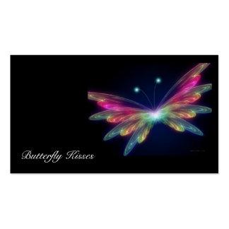 borboleta, beijos da borboleta cartoes de visitas