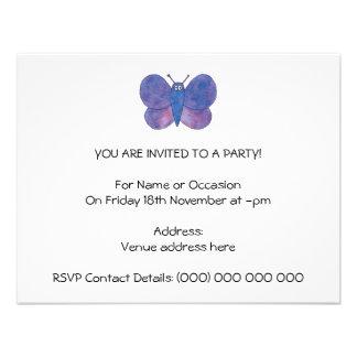 Borboleta bonito convite personalizados