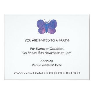 Borboleta bonito convite 10.79 x 13.97cm