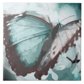 Borboleta bonito do Aqua Azulejos De Cerâmica