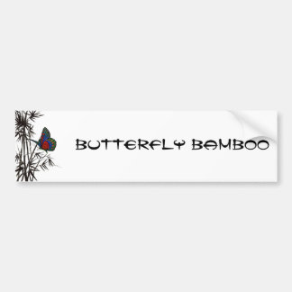 borboleta bonito no bambu adesivo para carro