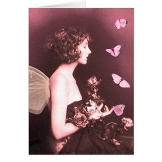 Borboleta, borboleta cartão comemorativo