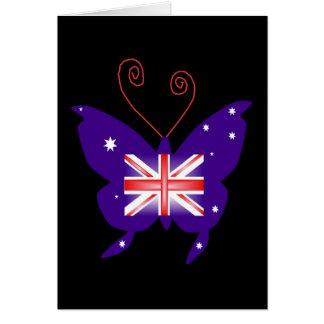 Borboleta britânica da diva cartão comemorativo