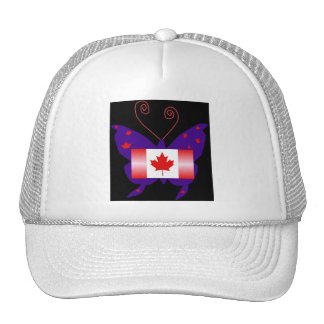 Borboleta canadense da diva boné