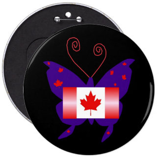 Borboleta canadense da diva botons