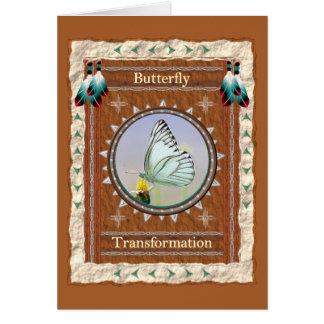 Borboleta - cartão do costume da transformação