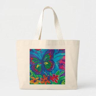 Borboleta colorida bolsa de lona