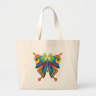 Borboleta colorida bolsa para compras