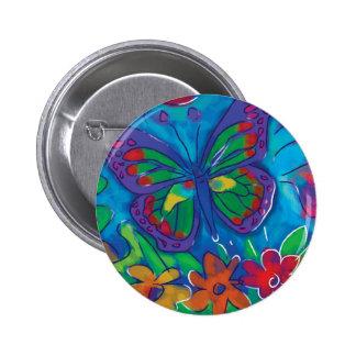 Borboleta colorida boton