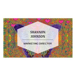 Borboleta colorida cartões de visitas