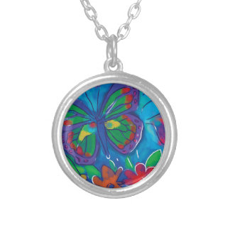 Borboleta colorida bijuteria personalizada