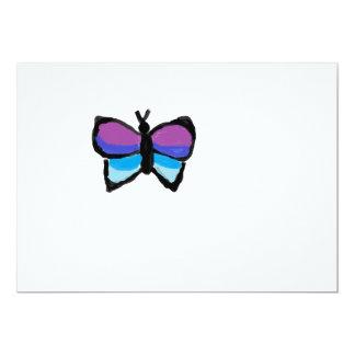 Borboleta colorida convite 12.7 x 17.78cm