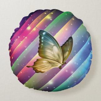 Borboleta colorida do verão almofada redonda