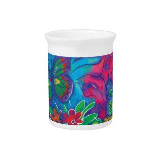 Borboleta colorida jarros