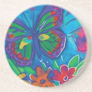 Borboleta colorida porta copos