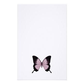Borboleta cor-de-rosa & preta grande - personalize papel personalizado