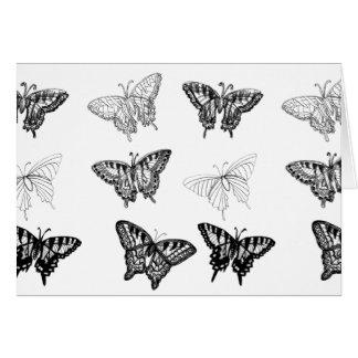 Borboleta CricketDiane da amizade das borboletas Cartão Comemorativo