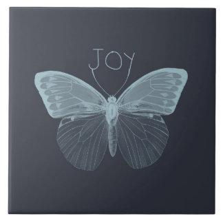Borboleta da alegria azulejos de cerâmica