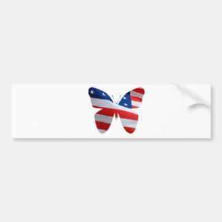borboleta da bandeira adesivo para carro